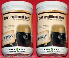 2-PACK Briess TRADITIONAL DARK LIQUID MALT EXTRACT LME 3.3 Lb. Can Homebrew Beer