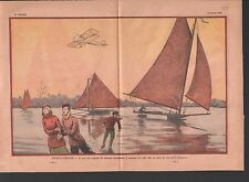 Ice BOAT Voile  glace Eissegeln IJszeilen ICE BOATING  ILLUSTRATION 1933