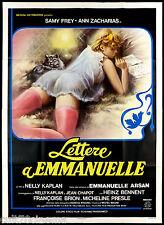 LETTERE A EMMANUELLE MANIFESTO CINEMA FILM EROTICO SEXY 1976 NÉA MOVIE POSTER 4F