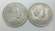 INDIA RS. 5 INDIRA GANDHI + JAWAHAR LAL NEHRU CU-NI BIG COIN SET OF 2 COINS
