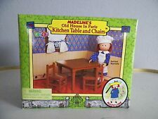 MADELINE'S OLD HOUSE IN PARIS DOLL FURNITURE KITCHEN TABLE CHAIRS EDEN 2000 NIB