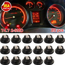 20 x Red T5 T4.7 Neo Wedge Led for A/C Climate Heater Control Bulbs Lamp Light