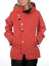 Oakley GB Eco Women's Snowboard Snow Ski Jacket Crimson Red Large