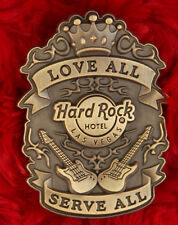 Hard Rock Cafe Pin Las Vegas Hotel 3-D SHIELD Badge love serve all guitar crown