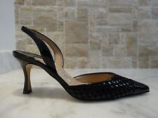 Manolo Blahnik 'Irie' Black Patent Leather Pump US-5M  EU-35M MADE IN ITALY
