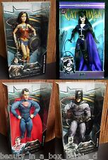 Wonder Woman Barbie Doll Catwoman Batman Superman Super Hero Dawn Justice Lot 4C