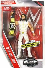 WWE SETH ROLLINS WORLD HEAVYWEIGHT BELT ELITE SERIES 45 WRESTLING FIGURE ACTION