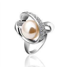 Bijoux Bague/Anneau Cristal Swarovski et Or Rosa 18K Perles Coquille PR158