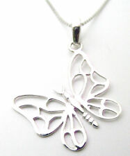 Funky 925 Sterling Silver Delicate Open Butterfly Pendant Supplied without chain