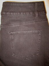 Coldwater Creek Classic Fit  Stretch Womens Brown Jeans Sz 10 P  x 29  Mint