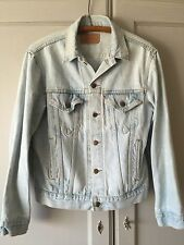 Vintage Distressed Levi's trucker jean jacket USA Made grunge denim men's small