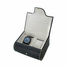 Two Watch Box Leatherette With Felt Interior & Watch Cushions