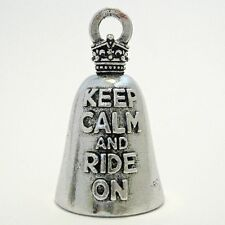 KEEP CALM AND RIDE ON GUARDIAN BELL harley gremlin motorcycle chopper deluxe fxr