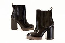 NWOB$1862 Brunello Cucinelli Patent Leather Shiny Monili Bead Ankle Boots 37/7US