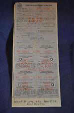 1933 New York Deer Hunting License *Long Lake*