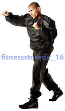Everlast Black Deluxe EVA Sauna Suit - Boxing - Training - Fitness - Size: MD/LG