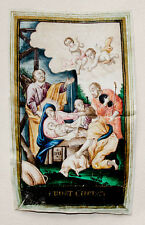 c1800 Weihnachten Christmas on Vellum Pergament Birth of Christ Orig Gouache