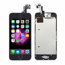For iPhone 5S LCD Screen Digitizer Full Assembly Replacement+Home Camera Black
