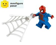 sh038 Lego Marvel Super Heroes 76058 - Spider Man Minifigure with net - New