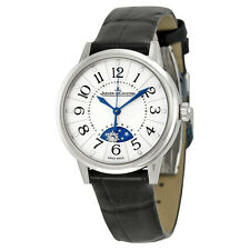 Jaeger LeCoultre Rendezvous Silver Dial Black Leather Ladies Watch Q3468490