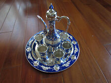 New Elegant Decortive Chinese Tin Tea Coffee Set, 8 Pieces