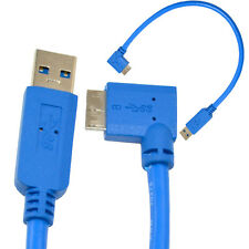 USB 3.0 A male to Micro B male 10P 90 Degree Left Angle Plug Extent Cable 30cm