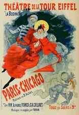 A4 photo CHERET Jules les affiches illustrees 1896 paris Chicago REVUE imprimer pos