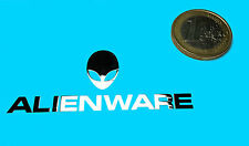 ALIENWARE METALISSED CHROME EFFECT STICKER LOGO AUFKLEBER 60x24mm (207)