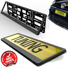 CARBON FIBER CAR TUNING LICENSE NUMBER PLATE HOLDER SURROUND FRAME ANY CAR