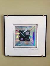 ORIGINAL LASER CUT PAINTING BY J A BURLINI VERY COOL IKEA FRAME ''DREAM WINDOW''