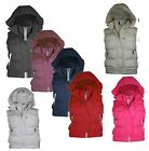 WOMENS GOLLARDO LADIES PADDED WARM JACKET HOODED BODYWARMER GILET SIZE 8-16