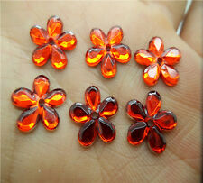 NEW 50pcs 12MM Resin Flower Perforate flatback Appliques For phone/wedding/ VE05