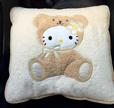 "Sanrio Hello Kitty ""Teddy Bear Costume"" Seat Cover/Throw Pillow (RARE)"