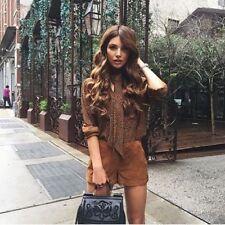 Zara Suede Goat Leather Shorts Size MEDIUM BNWOT