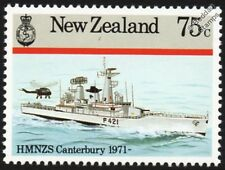 HMNZS CANTERBURY (F421) New Zealand Leander-Class Frigate Warship Stamp