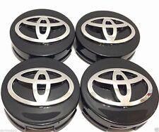 New Toyota 4 Pcs Wheel Center Hub Caps Rim 62 MM Black plastic chrome wheels