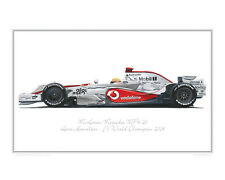 McLaren Mercedes MP4-23 - Limited Edition F1 Race Car Print Poster by Steve Dunn