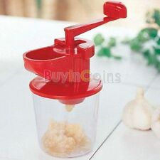 Manual Plastic Garlic Mincer Crusher Grinder Press Home Kitchen Gadget Tool DH