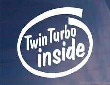 TWIN TURBO INSIDE Novelty Car/Window/Bumper Sticker for Skyline GTR/Mitsi GTO