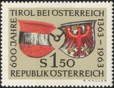 Austria 1963 Tyrol/Eagle/Coat-of-Arms/Crests/Heraldry/History 1v (at1066a)