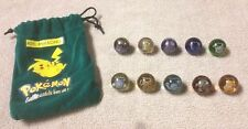 Lot of 10 POKEMON Marbles in Green PIKACHU #25 Pouch NINTENDO 2000 Poliwhirl