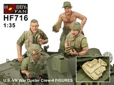 Hobby Fan 1/35 Scale US Vietnam War Duster Crew 4 Resin Figures HF-716