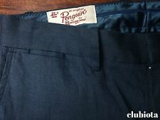 penguin chino pants flat front blue SLIM FIT cotton blend size: 30/32