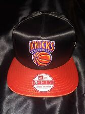 Brand new shiny satin new york knicks nba New Era casquette réglable medium/large