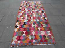 Old Traditional Hand Made Persian Oriental Kilim Wool Cotton Colourful 275x126m