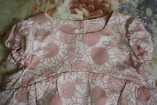 BABY DIOR PINK FLORAL COTTON BLOUSE 6 MONTHS