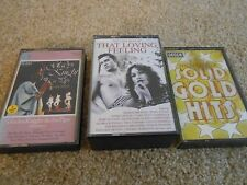 Various Artists Audio Cassettes Job Lot 3Titles SOLID GOLD HITS Gladys Knight --
