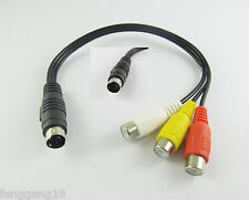 1pcs 4 Pin S-video Male Plug To 3 RCA Female Jack Video TV Laptop Adapter Cable
