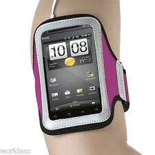 MYBAT Armband for HTC Rhyme Sports Running Jogging Phone Case Cover Hot Pink 213