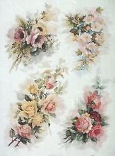 Ricepaper for Decoupage Decopatch Scrapbook Craft Sheet A/3 Vintage Roses 2